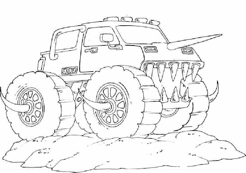 Ausmalbilder monster truck -10 Ausmalbilder Malvorlagen