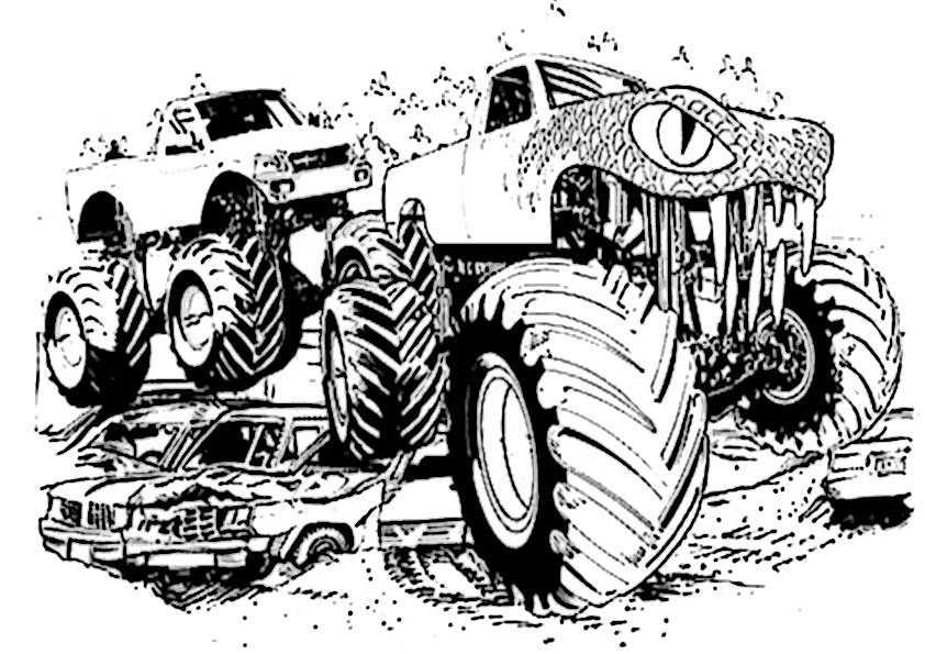 Ausmalbilder monster truck -8 Ausmalbilder Malvorlagen
