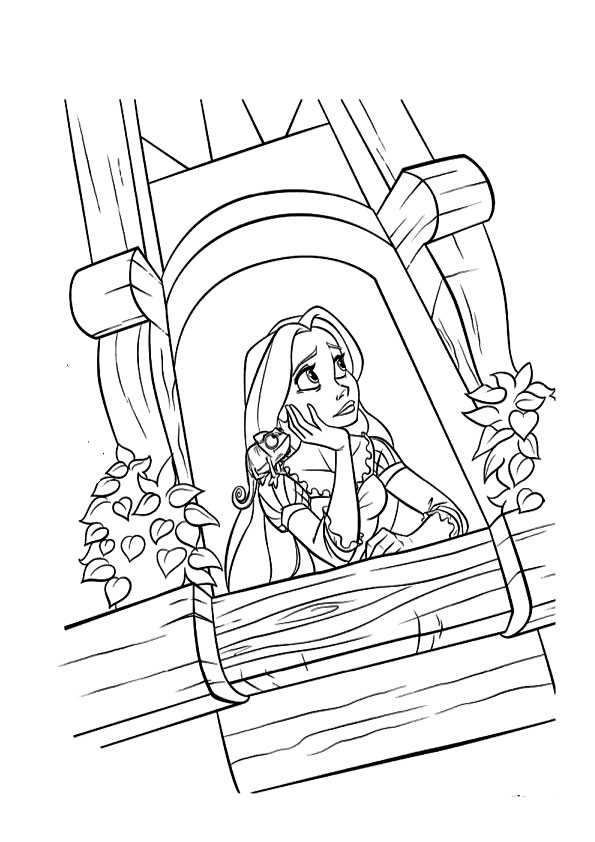 Ausmalbilder rapunzel-18 Ausmalbilder Malvorlagen
