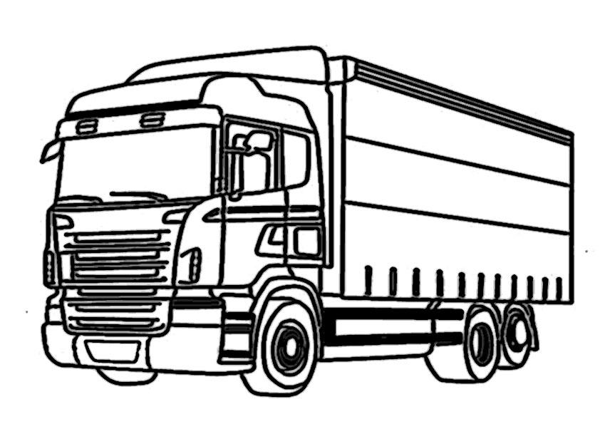 Gratis Malvorlage Lastwagen Malvorlagencr