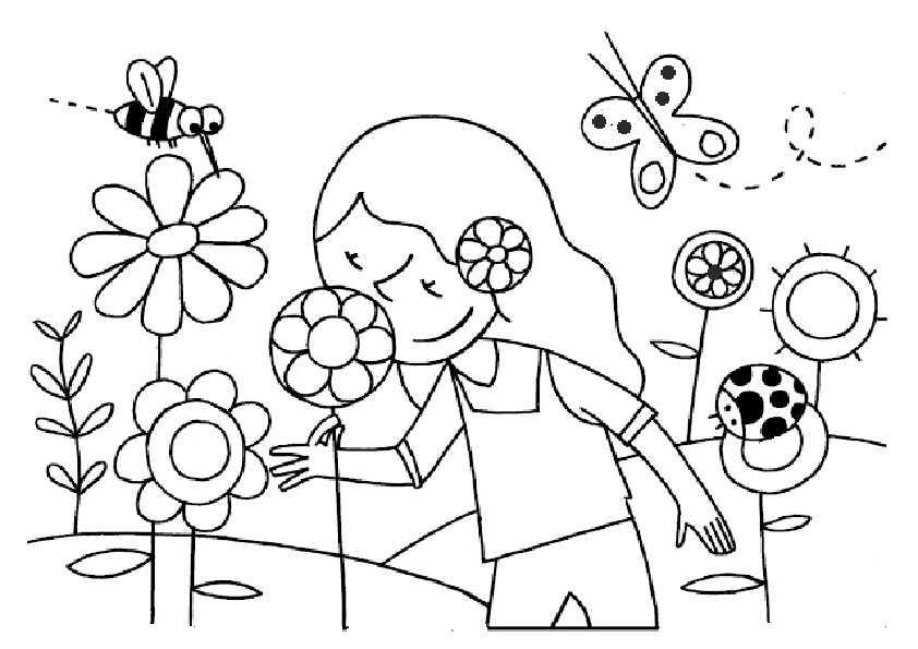 Malvorlagen Frühling