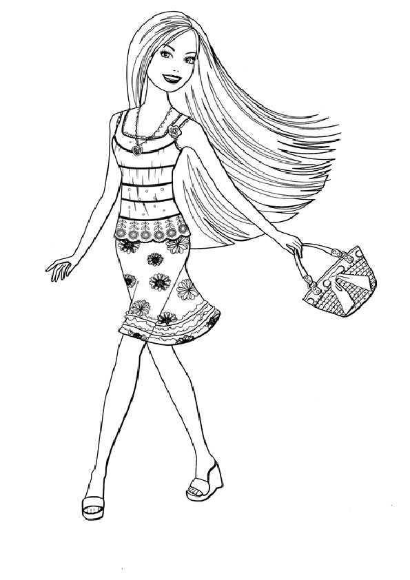 Barbie-71 Ausmalbilder Malvorlagen