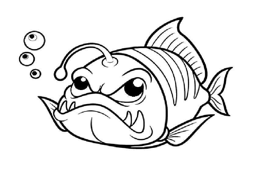 Fische-3 Ausmalbilder Malvorlagen