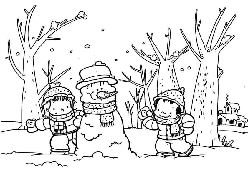 Winter 1 Ausmalbilder Malvorlagen