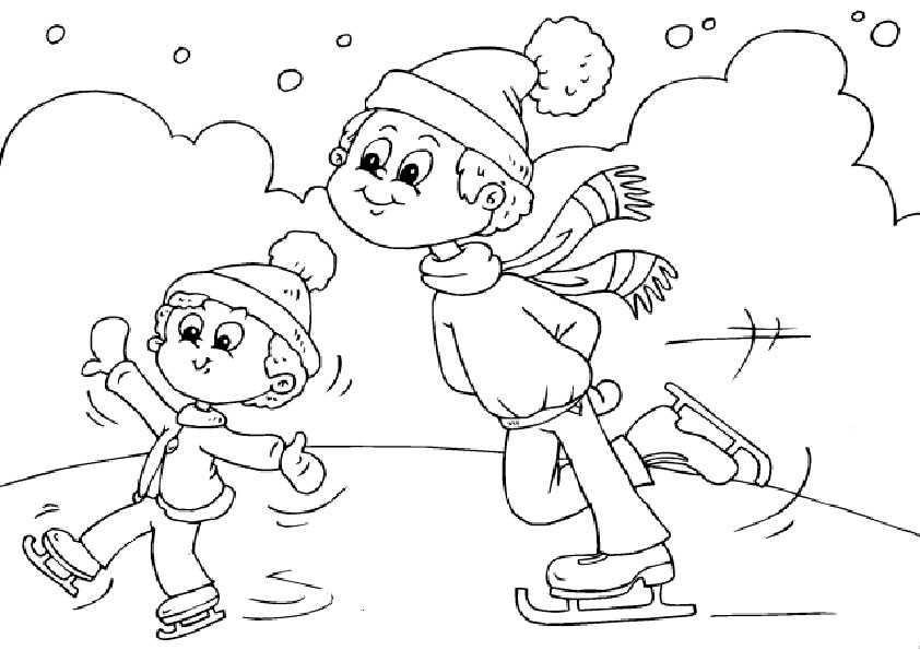 Winter-21 Ausmalbilder Malvorlagen