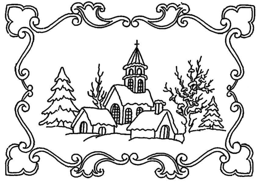 Winter-8 Ausmalbilder Malvorlagen