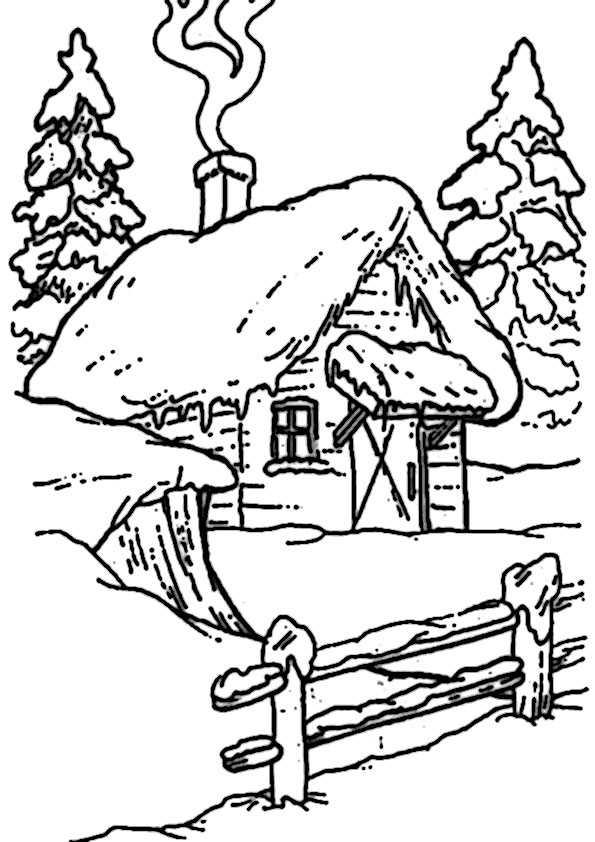 Winter-5 Ausmalbilder Malvorlagen