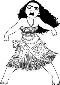 Ausmalbilder Ausdrucken Vaiana Vaiana