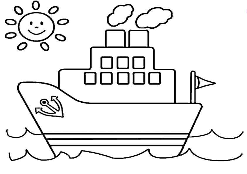 Schiffe-1 Ausmalbilder Malvorlagen