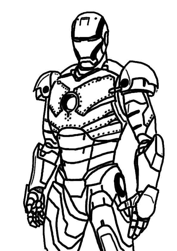 Ironman-7 Ausmalbilder Malvorlagen
