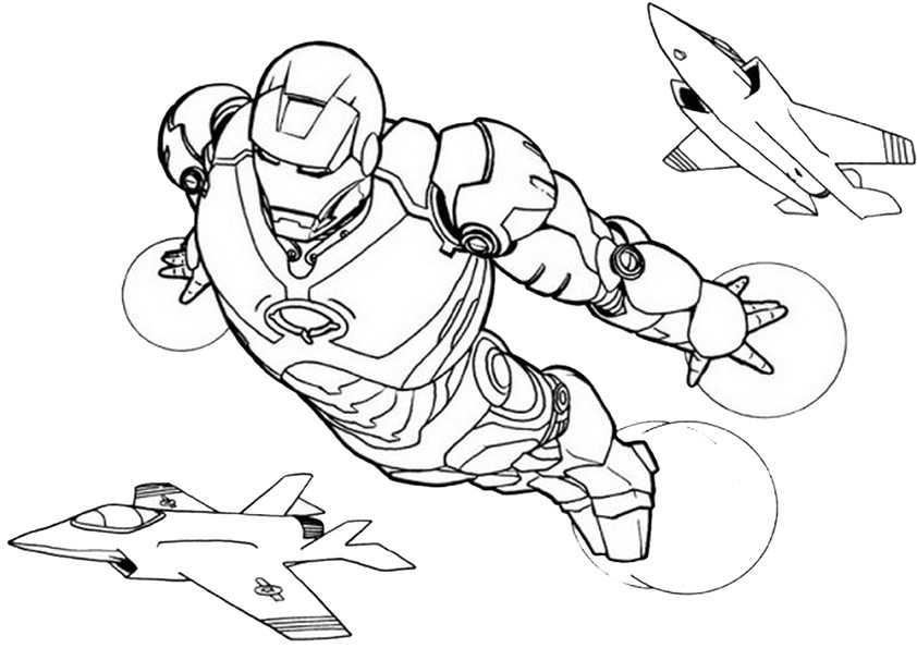 Ironman-9 Ausmalbilder Malvorlagen