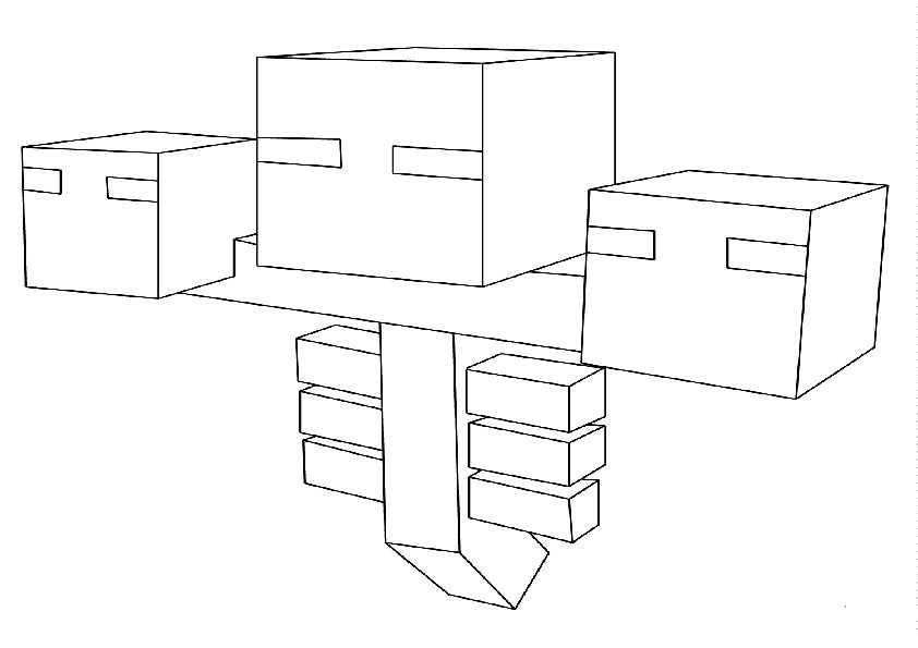 Minecraft-2 Ausmalbilder Malvorlagen