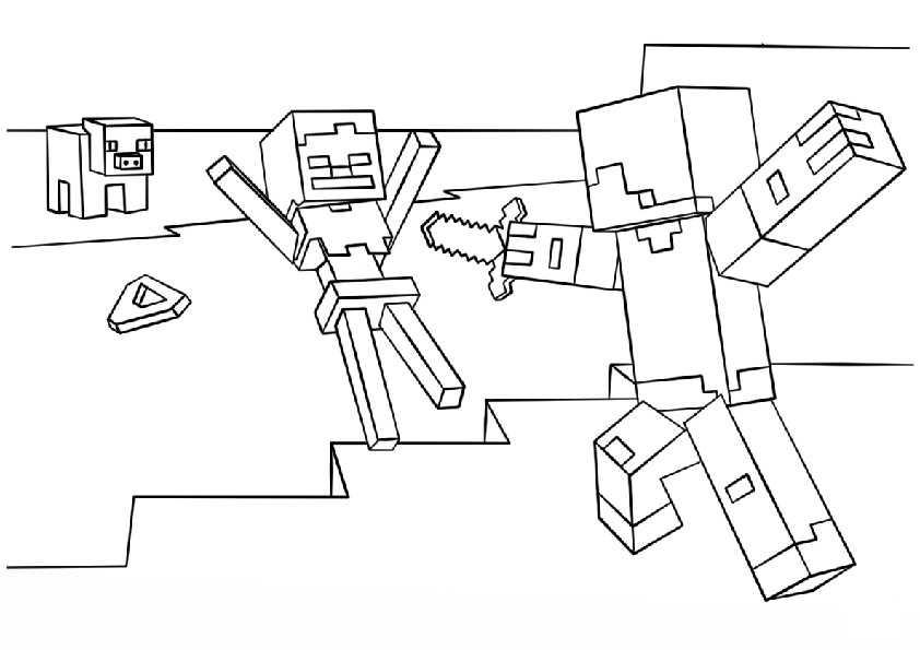 Minecraft-4 Ausmalbilder Malvorlagen