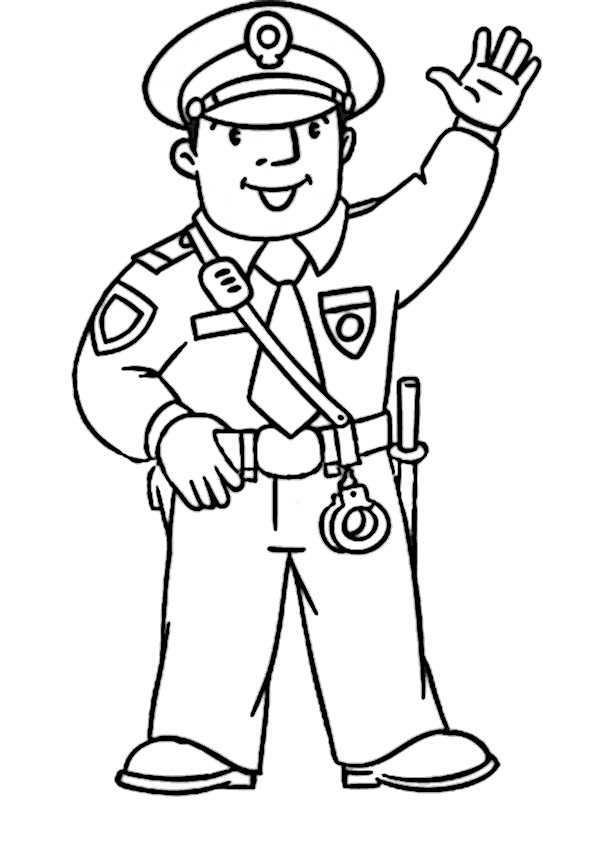 Polizei-1 Ausmalbilder Malvorlagen