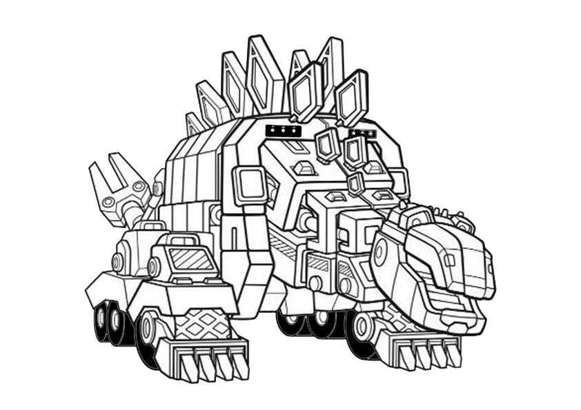 Gratis Malvorlagen Dinotrux - Kostenlose Malvorlagen Ideen