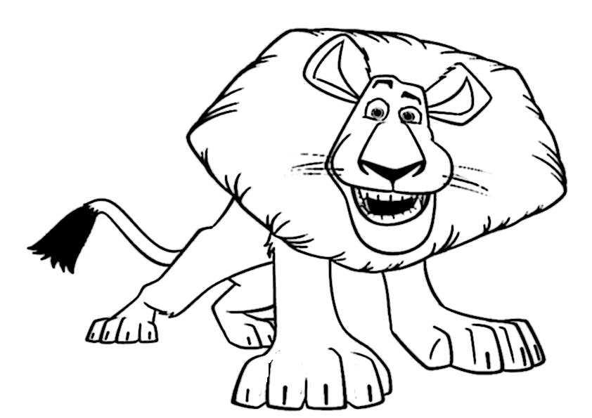 Löwe-14 Ausmalbilder Malvorlagen