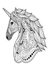 Ausmalbilder Einhorn Blumen Pegasus