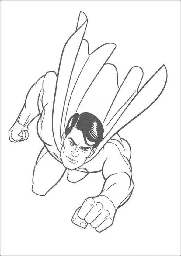 Superman-3 Ausmalbilder Malvorlagen