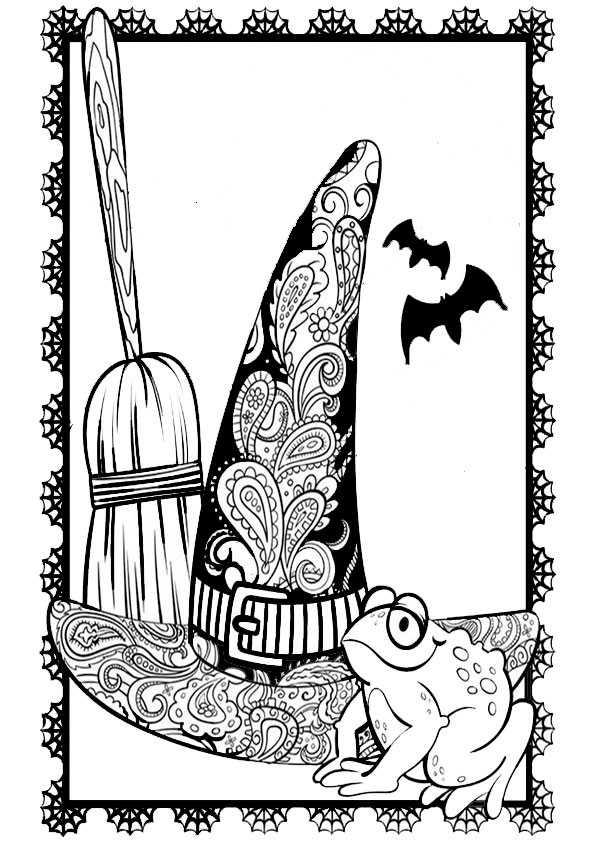 Halloween-75 Ausmalbilder Malvorlagen