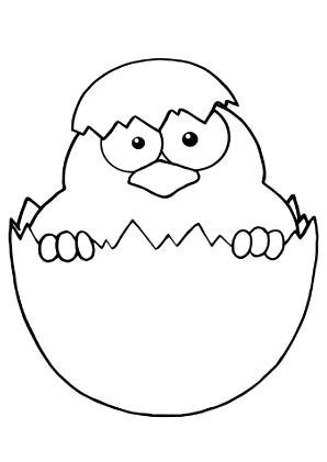Ausmalbilder Süsses Küken - Ostereier Malvorlagen