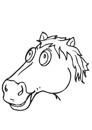 Pferdekopf bilder zum ausmalen