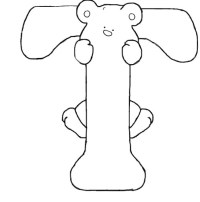 Letter T Is For Teddy Bear Coloring Page