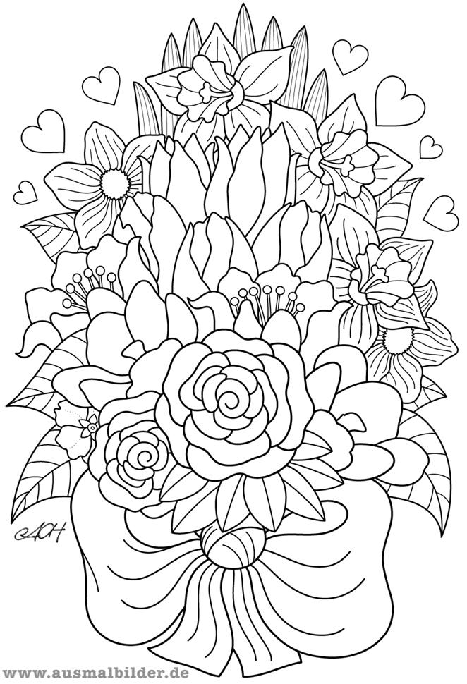 20 Der Besten Ideen Für Ausmalbilder Blumenstrauß - Beste