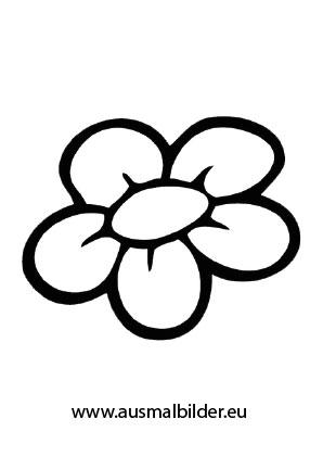 Ausmalbild Blüte kostenlos ausdrucken