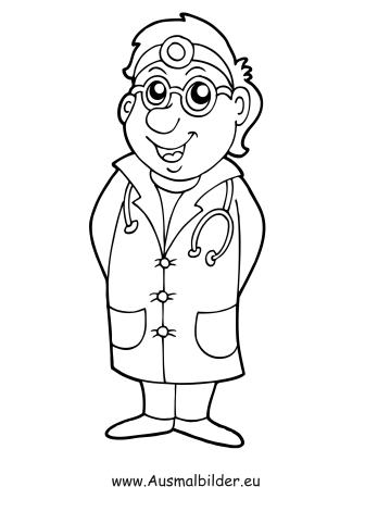 Ausmalbilder Arzt Berufe Malvorlagen
