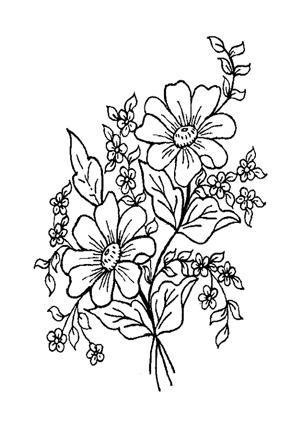 Ausmalbilder Blumenstrauss 10 - Blumenstrauss Malvorlagen