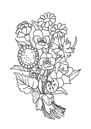Ausmalbilder Blumenstrauss 17 Blumenstrauss Malvorlagen