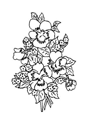 Ausmalbilder Blumenstrauss 20 kostenlos ausdrucken