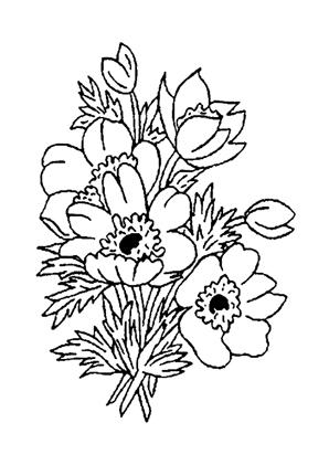 Ausmalbilder Blumenstrauss 21 kostenlos ausdrucken