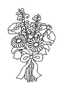 Ausmalbilder Blumenstrauss 32 - Blumenstrauss Malvorlagen