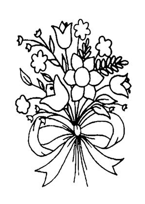 Ausmalbilder Blumenstrauss 33 kostenlos ausdrucken