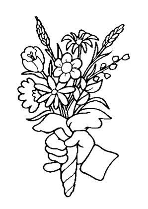 Ausmalbilder Blumenstrauss 43 kostenlos ausdrucken