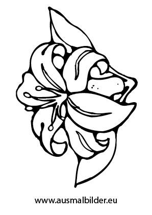 Ausmalbilder Blte  Blumen Malvorlagen ausmalen