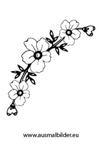 Ausmalbilder Blumenkranz - Blumen Malvorlagen ausmalen