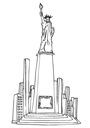 Ausmalbilder New York Denkmal Wahrzeichen Malvorlagen