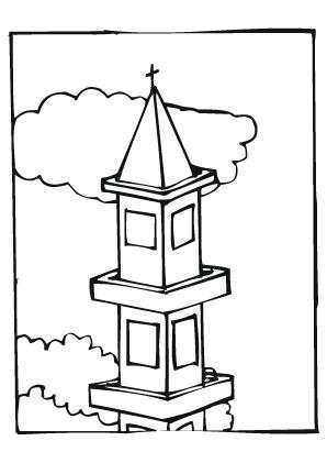 Ausmalbilder Turmspitze  Trme Malvorlagen