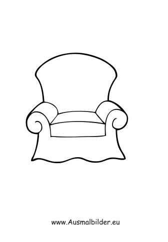 Ausmalbilder Sessel  Mbel Malvorlagen