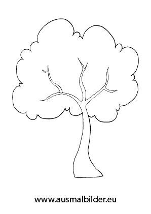 Ausmalbilder Baum - Herbst Malvorlagen