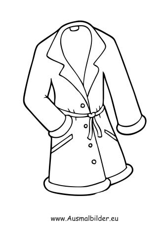 Ausmalbild Kurzer Mantel kostenlos ausdrucken