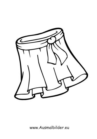 Malvorlage Unterwäsche