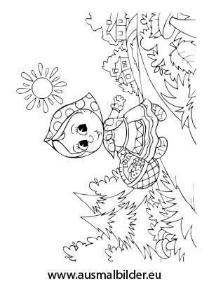 Ausmalbilder Rotkppchen Mrchen Malvorlagen Ausmalen