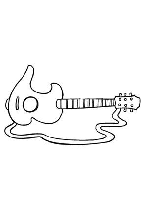 Ausmalbild E Gitarre kostenlos ausdrucken
