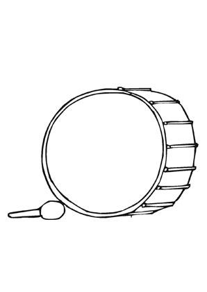 Ausmalbilder Pauke - Musik Malvorlagen