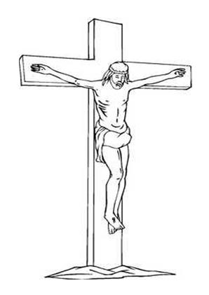 Ausmalbilder Gekreuzigter Jesus - Jesus Malvorlagen