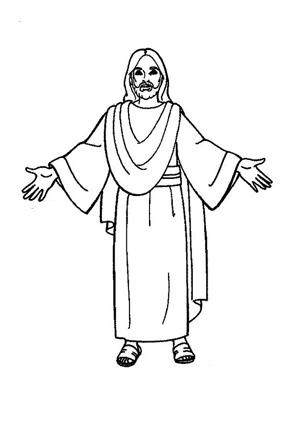 Ausmalbilder Jesus 2 - Jesus Malvorlagen