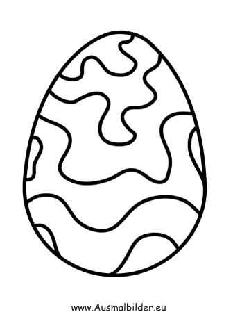 Ausmalbilder Osterei mit Wellen - Ostern Malvorlagen